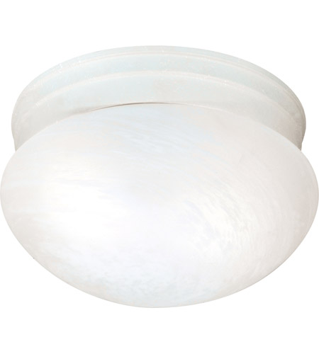 Nuvo Lighting Signature 2 Light Flushmount in Textured White 60/2637 photo