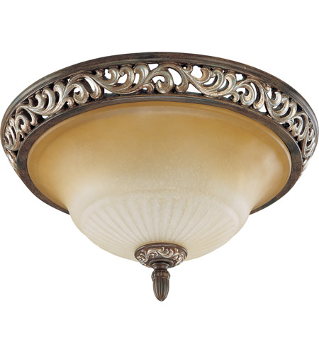 Nuvo Lighting Palermo 3 Light Flushmount in Cappuccino 60/2712 photo