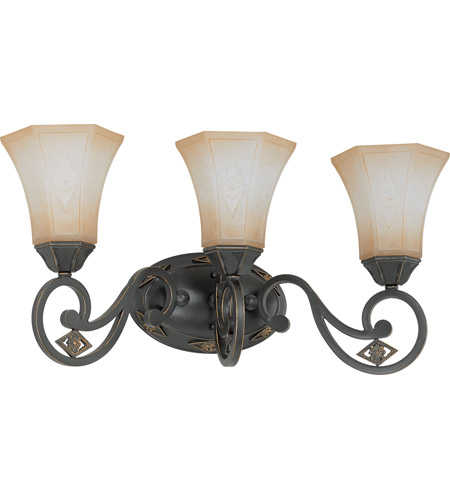 Nuvo Lighting Brussells 3 Light Wall Sconce in Belgium Bronze 60/2735 photo