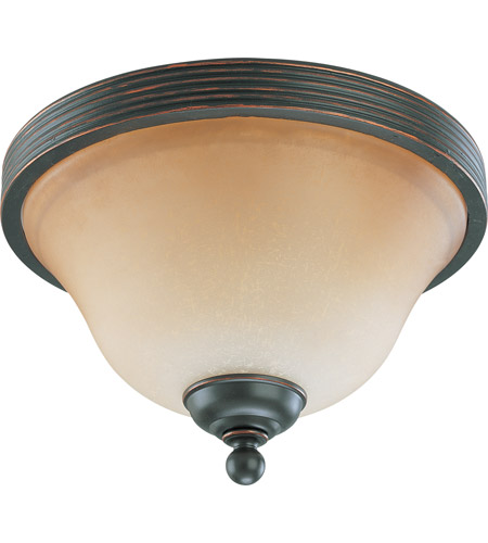 Nuvo Lighting Montgomery 2 Light Flushmount in Sudbury Bronze 60/2752 photo