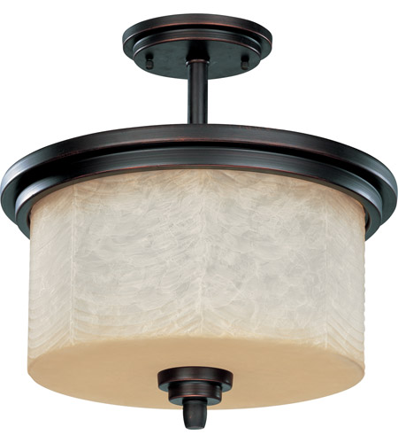 Nuvo Lighting Lucern 3 Light Semi-Flush in Patina Bronze 60/2766 photo