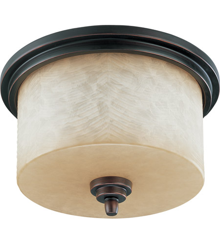 Nuvo Lighting Lucern 3 Light Flushmount in Patina Bronze 60/2767 photo