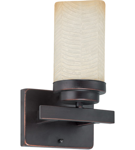 Nuvo Lighting Lucern 1 Light Vanity & Wall in Patina Bronze 60/2768 photo