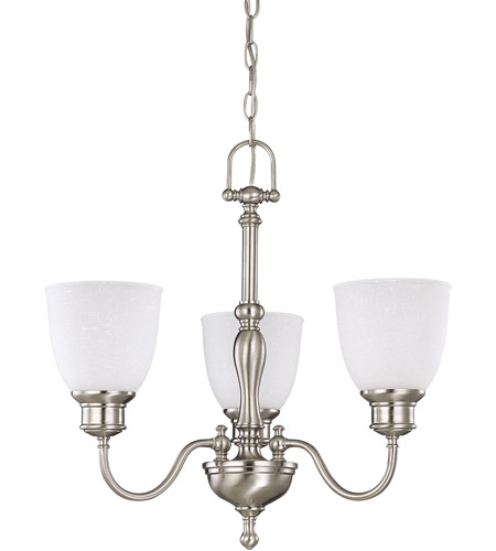 Nuvo 60/2773 Bella 3 Light 21 inch Brushed Nickel Chandelier Ceiling Light photo