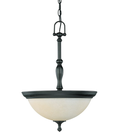 Nuvo 60/2783 Bella 3 Light 16 inch Aged Bronze Pendant Ceiling Light photo