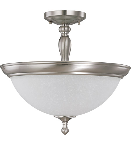 Nuvo Lighting Bella 3 Light Semi-Flush in Brushed Nickel 60/2786 photo