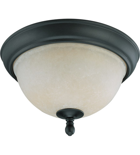 Nuvo Lighting Bella 2 Light Flushmount in Aged Bronze 60/2789 photo