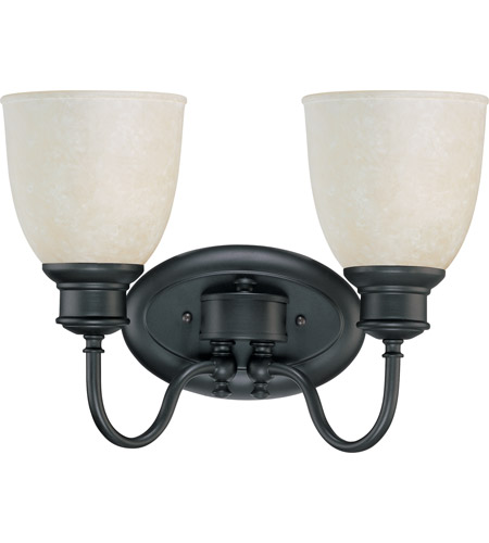 Nuvo 60/2798 Bella 2 Light 14 inch Aged Bronze Vanity & Wall Wall Light photo