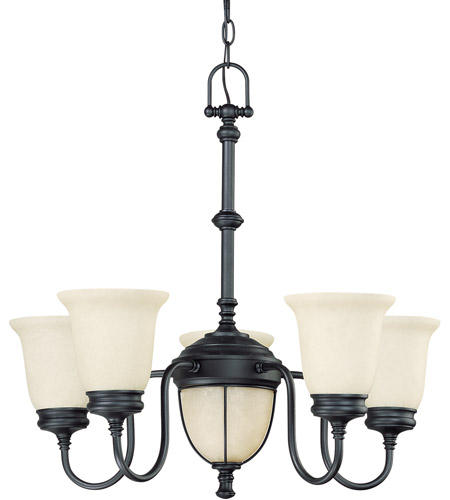 Nuvo Lighting Salem 7 Light Chandelier in Aged Bronze 60/2807 photo