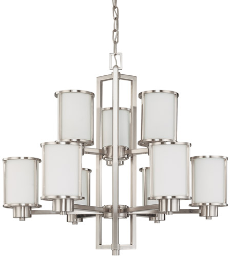 Nuvo 60/2855 Odeon 9 Light 30 inch Brushed Nickel Chandelier Ceiling Light photo