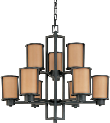 Nuvo Lighting Odeon 9 Light Chandelier in Aged Bronze 60/2856 photo