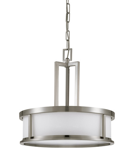 sc 1 st  Nuvo Lighting Lights & Nuvo 60/2857 Odeon 4 Light 17 inch Brushed Nickel Pendant Ceiling Light