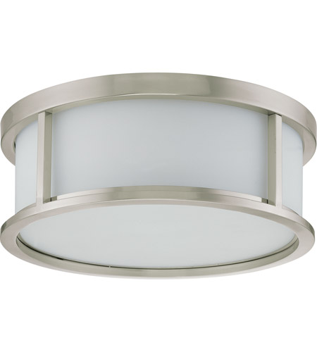 Nuvo 60/2862 Odeon 3 Light 15 inch Brushed Nickel Flushmount Ceiling Light photo