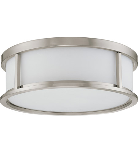Nuvo 60/2864 Odeon 3 Light 17 inch Brushed Nickel Flushmount Ceiling Light photo