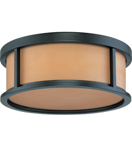 Nuvo 60/2865 Odeon 3 Light Aged Bronze Flushmount Ceiling Light photo