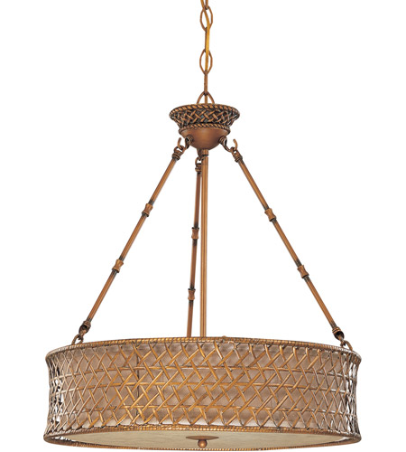 Nuvo Lighting Abbott 3 Light Pendant in Rustic Rattan 60/2882 photo