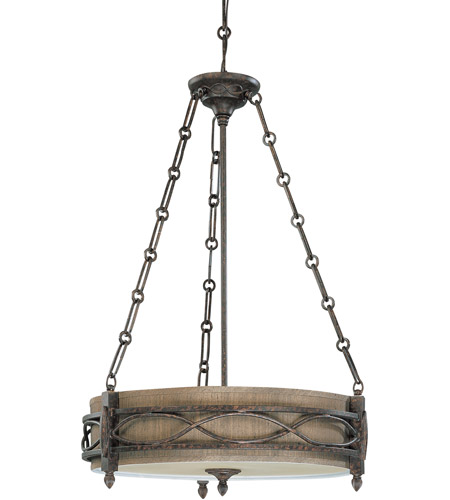 Nuvo Lighting Ansel 3 Light Pendant in Distressed Bronze 60/2886 photo