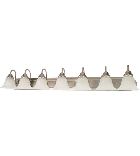 Nuvo 60/291 Ballerina 7 Light 48 inch Brushed Nickel Vanity & Wall Wall Light photo