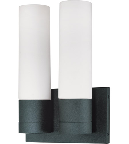 Nuvo Lighting Link 2 Light Vanity & Wall in Textured Black 60/2939 photo