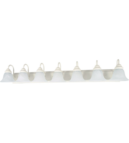 Nuvo Lighting Ballerina 7 Light Vanity & Wall in Textured White 60/294 photo