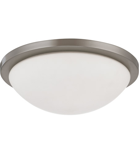 Nuvo 60/2944 Button 2 Light 13 inch Brushed Nickel Flushmount Ceiling Light photo