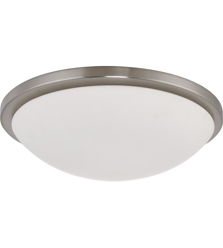 Nuvo 60/2947 Button 4 Light 17 inch Brushed Nickel Flushmount Ceiling Light photo