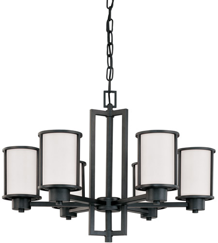 sc 1 st  Nuvo Lighting & Nuvo 60/2975 Odeon 6 Light 28 inch Aged Bronze Chandelier Ceiling Light