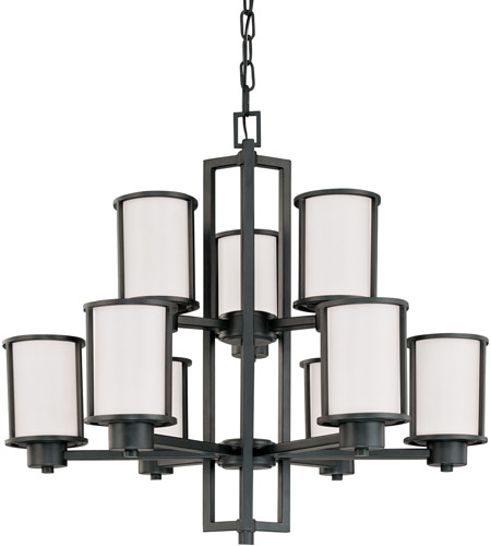 Nuvo 60/2979 Odeon 9 Light 30 inch Aged Bronze Chandelier Ceiling Light photo