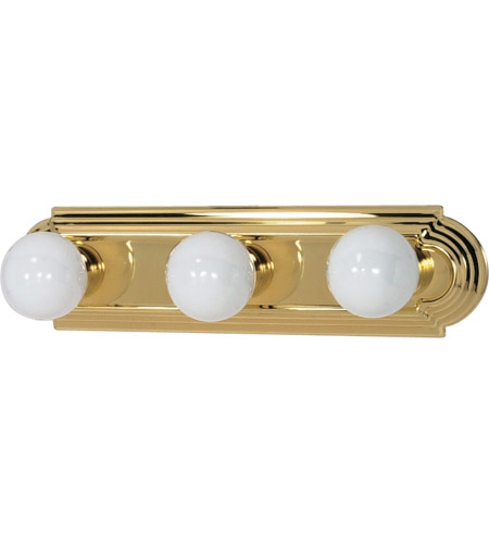 Nuvo Lighting Signature 3 Light Vanity & Wall in Polished Brass 60/308 photo