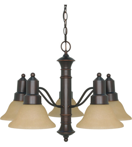 Nuvo 60/3103 Gotham 5 Light 25 inch Mahogany Bronze Chandelier Ceiling Light photo