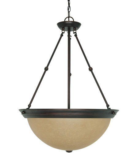 Nuvo Lighting Signature 3 Light Pendant in Mahogany Bronze 60/3113 photo