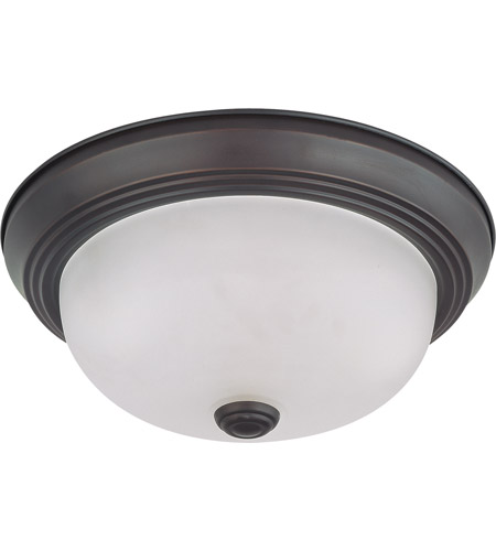 Nuvo 60/3145 Signature 2 Light 11 inch Mahogany Bronze Flushmount Ceiling Light photo