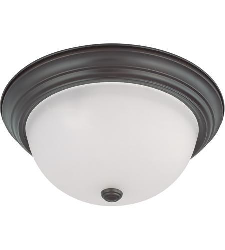 Nuvo 60 3147 Brentwood 3 Light 15 Inch Mahogany Bronze Flush Mount Ceiling Light