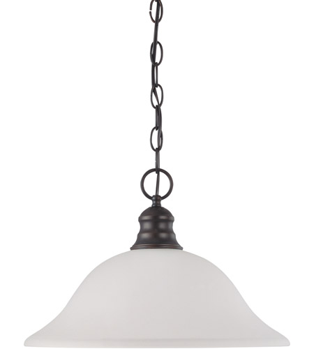 Nuvo 60/3173 Signature 1 Light 16 inch Mahogany Bronze Pendant Ceiling Light photo