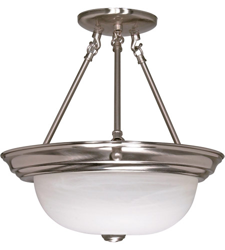 Nuvo 60/3185 Signature 2 Light 13 inch Brushed Nickel Semi-Flush Ceiling Light photo