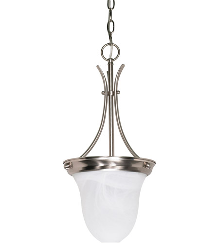 Nuvo 60/3199 Signature 1 Light 10 inch Brushed Nickel Pendant Ceiling Light photo