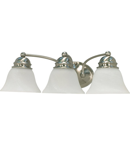 Nuvo 60/3206 Empire 3 Light 21 inch Brushed Nickel Vanity & Wall Wall Light photo