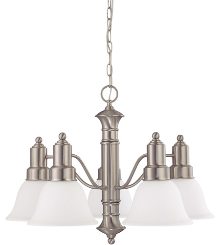 Nuvo Lighting Gotham 5 Light Chandelier in Brushed Nickel 60/3242 photo