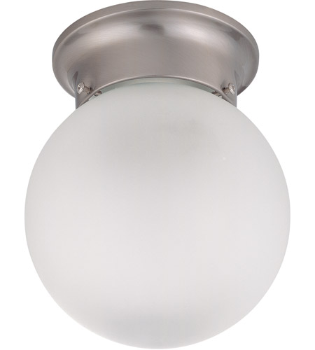 Nuvo 60/3249 Signature 1 Light 6 inch Brushed Nickel Flushmount Ceiling Light photo