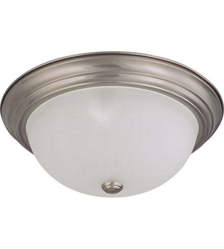 Nuvo Lighting Signature 3 Light Flushmount in Brushed Nickel 60/3263 photo