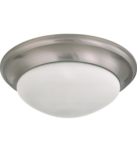 Nuvo 60/3273 Signature 3 Light 17 inch Brushed Nickel Flushmount Ceiling Light photo