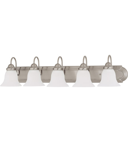 36 Vanity Light Brushed Nickel : Nuvo 60/3282 Ballerina 5 Light 36 inch Brushed Nickel Vanity & Wall Wall Light