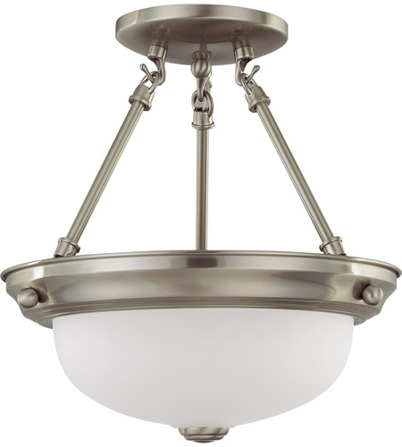 Nuvo 60/3294 Signature 2 Light 11 inch Brushed Nickel Semi-Flush Ceiling Light photo