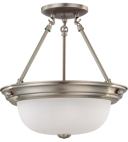 Nuvo Lighting Signature 2 Light Semi-Flush in Brushed Nickel 60/3295 photo