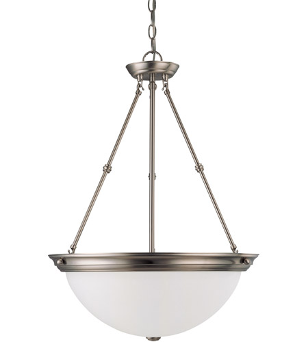 Nuvo Lighting Signature 3 Light Pendant in Brushed Nickel 60/3298 photo
