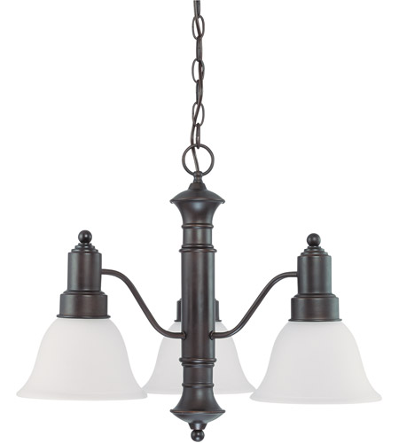 Nuvo 60/3334 Gotham 3 Light 23 inch Mahogany Bronze Chandelier Ceiling Light photo
