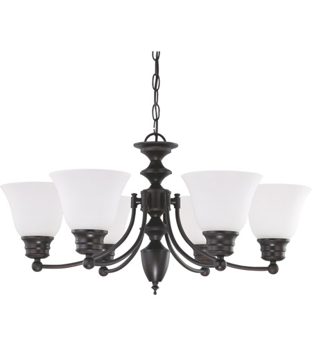 Nuvo 60/3359 Empire 6 Light 26 inch Mahogany Bronze Chandelier Ceiling Light photo