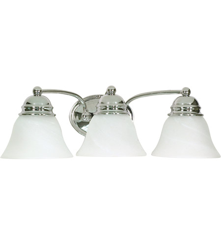 Nuvo 60/338 Empire 3 Light 21 inch Polished Chrome Vanity & Wall Wall Light photo