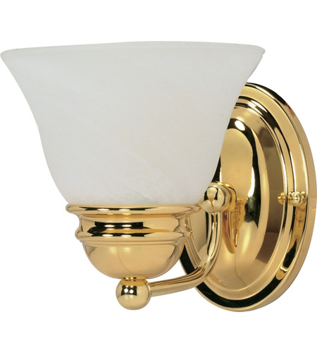 Nuvo 60/348 Empire 1 Light 6 inch Polished Brass Vanity & Wall Wall Light photo