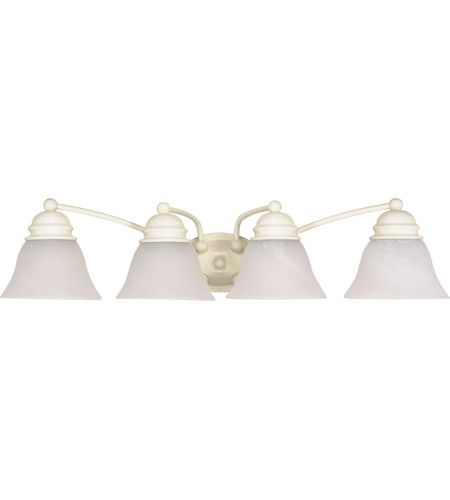 Nuvo 60/355 Empire 4 Light 29 inch Textured White Vanity & Wall Wall Light photo